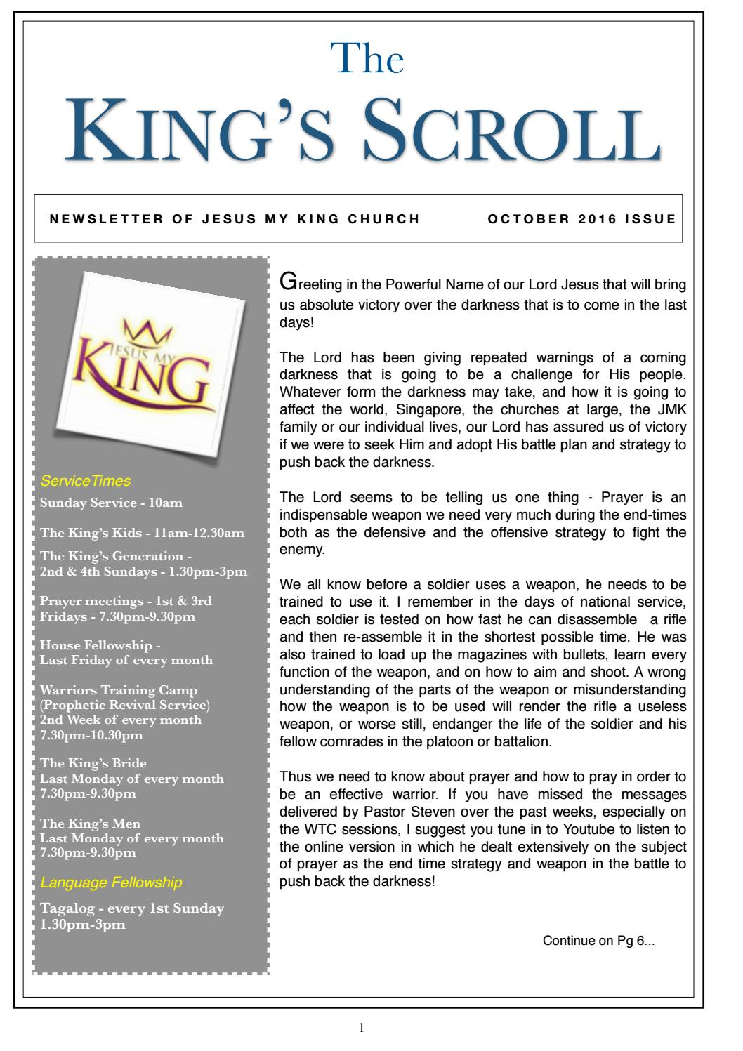 King's Scroll October 2016 Issue by Rivers Media - issuu