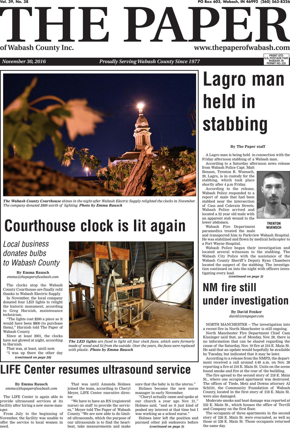 The Paper Of Wabash County Nov 30 2016 Issue By The