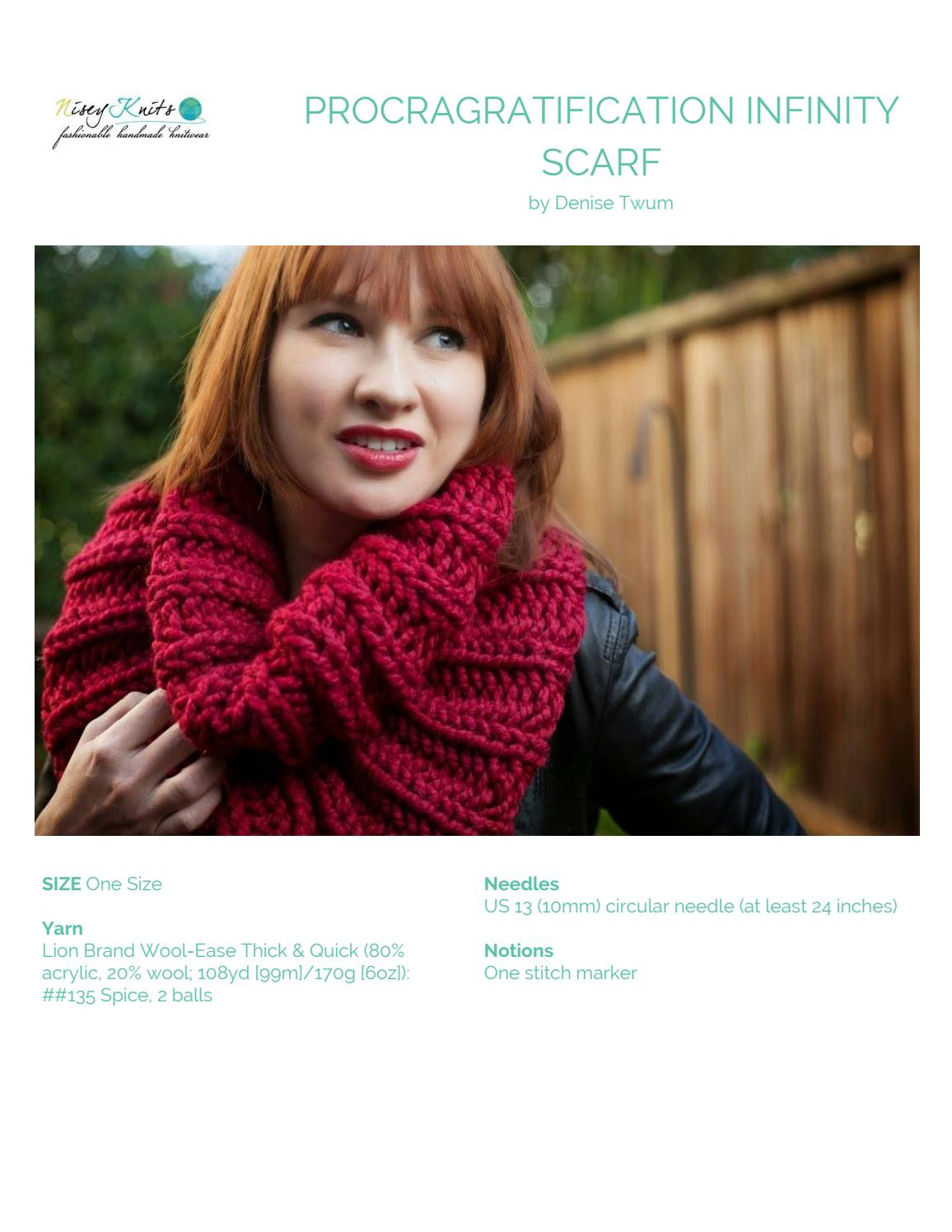 Procragratification Infinity Scarf By The Knit Issuu