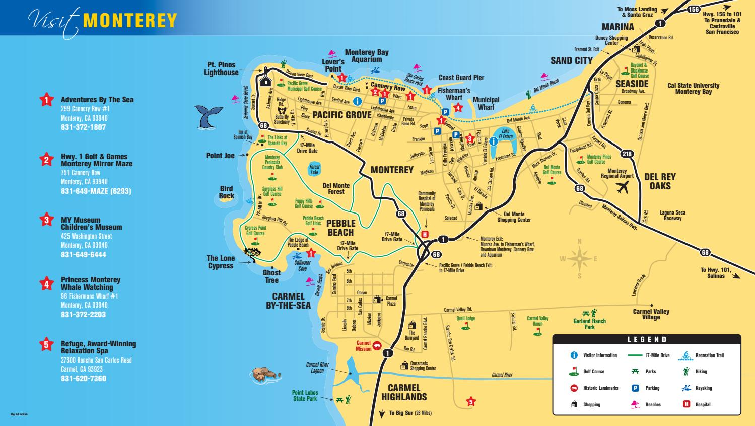 Monterey Bay Adventure Map by Certified Folder Display - issuu on