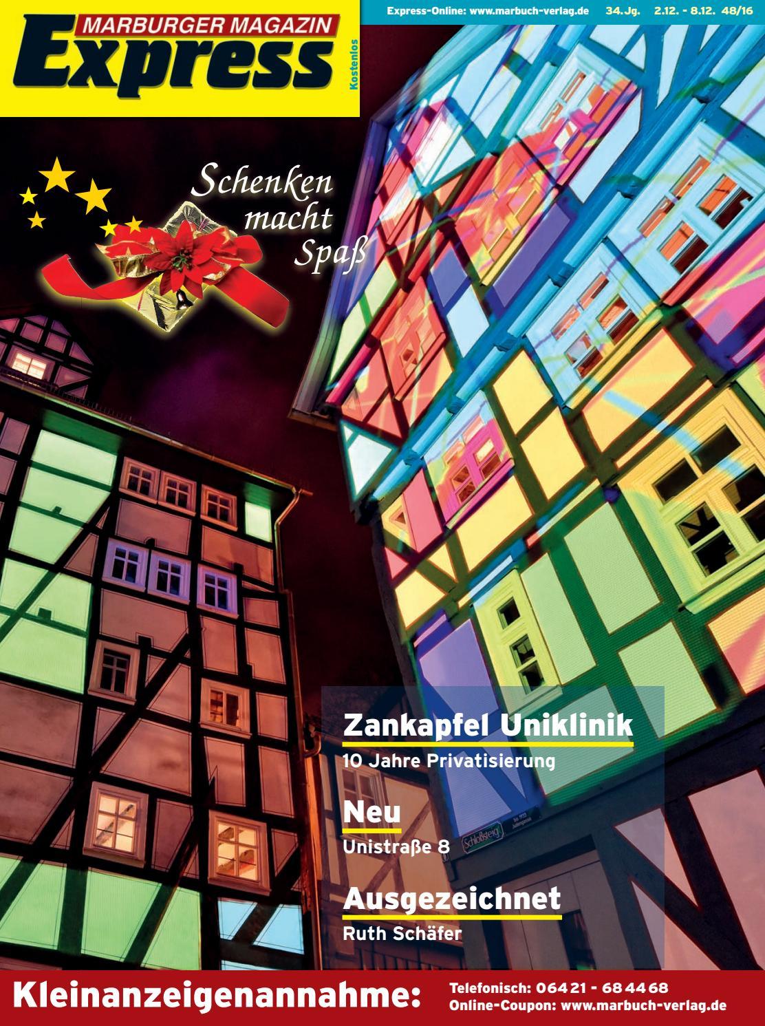 Marburger Magazin Express 48/2016 by Ulrich Butterweck - issuu