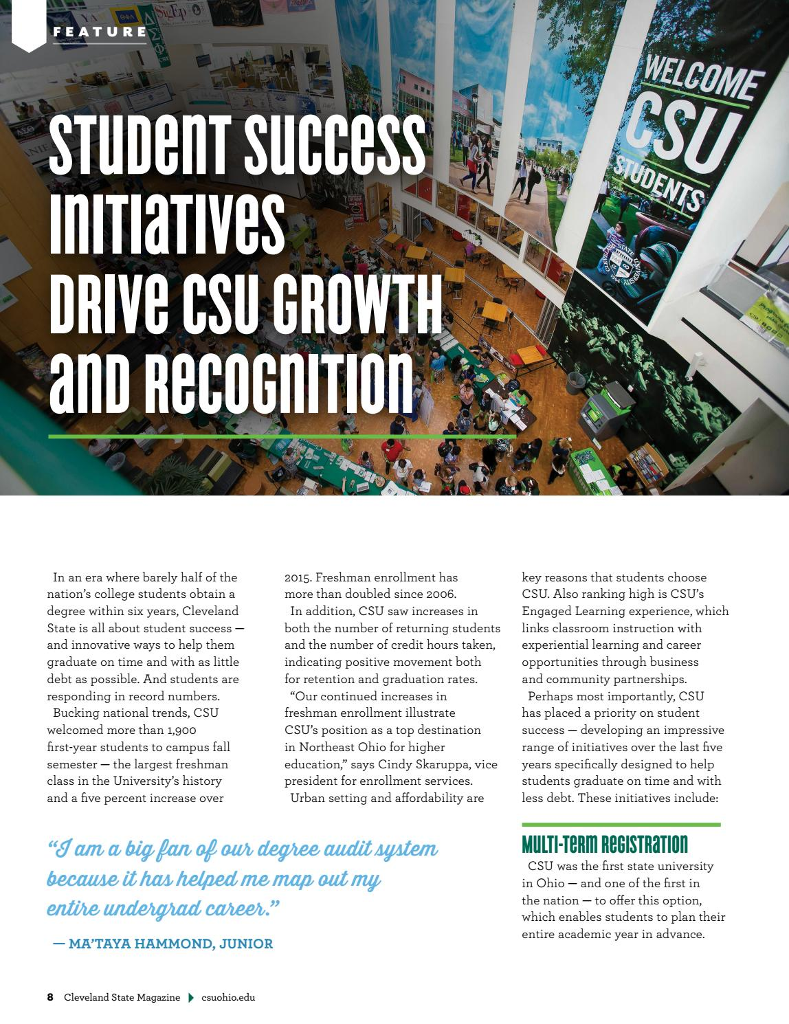 Cleveland State Magazine - Fall 2016/Winter 2017 by Cleveland State on