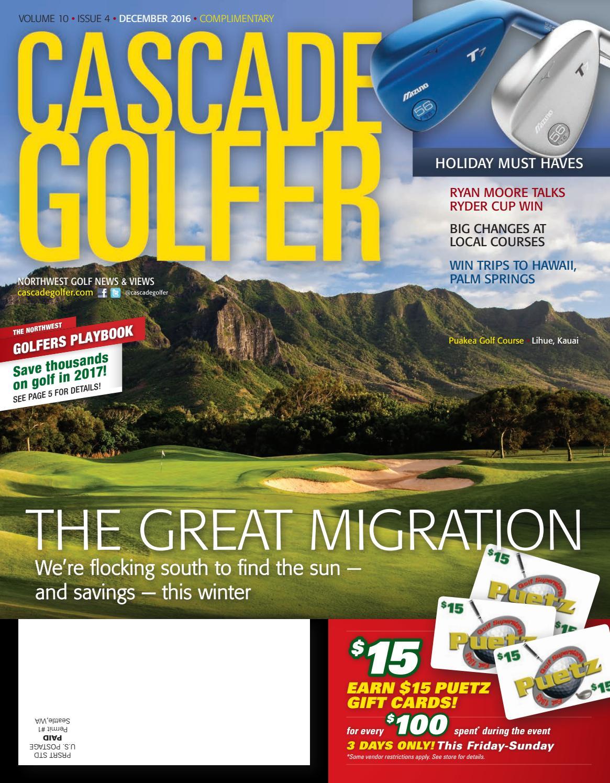 Cascade Golfer December 2016 By Varsity Communications