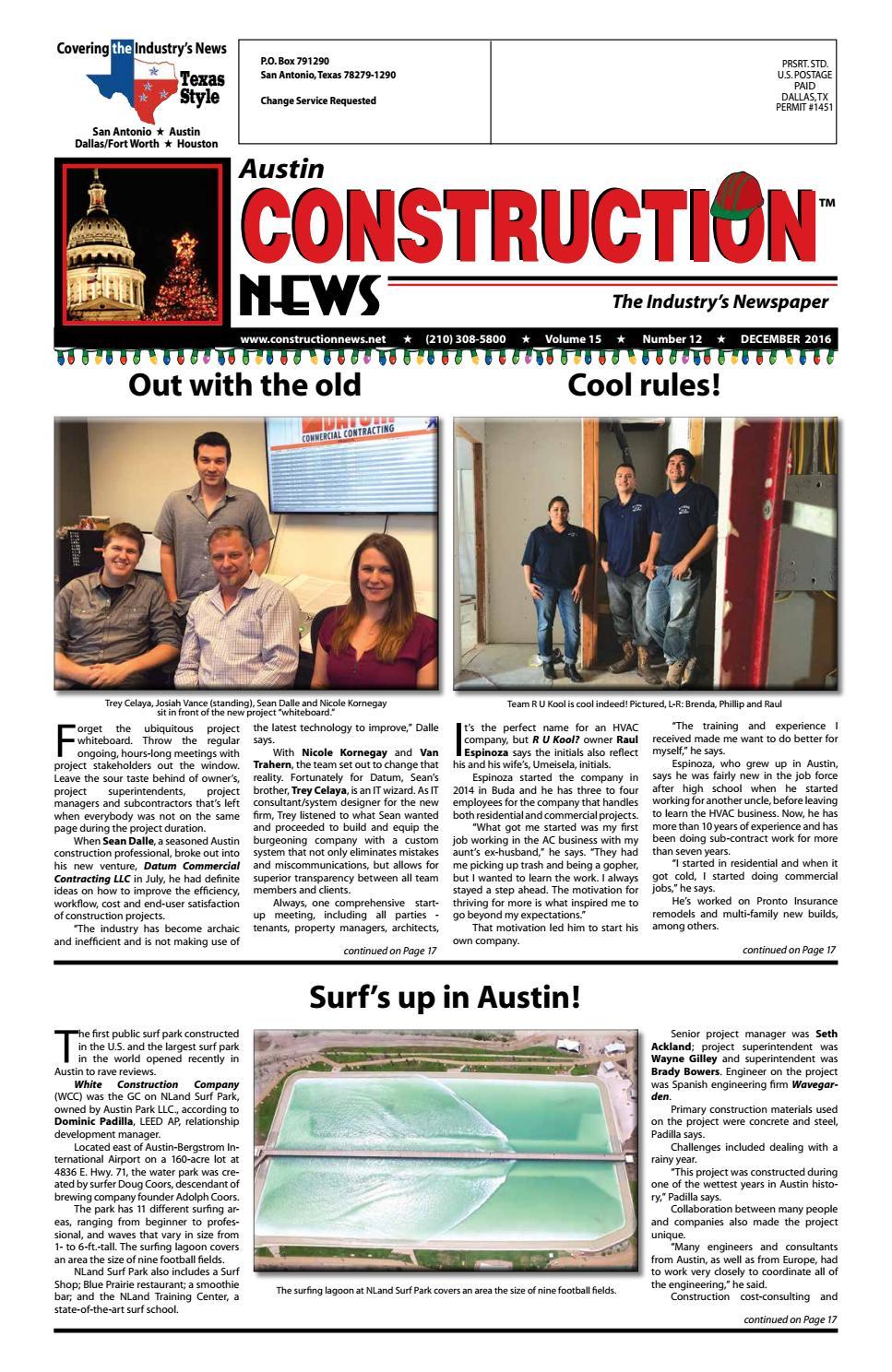 Austin Construction News December 2016 By Construction