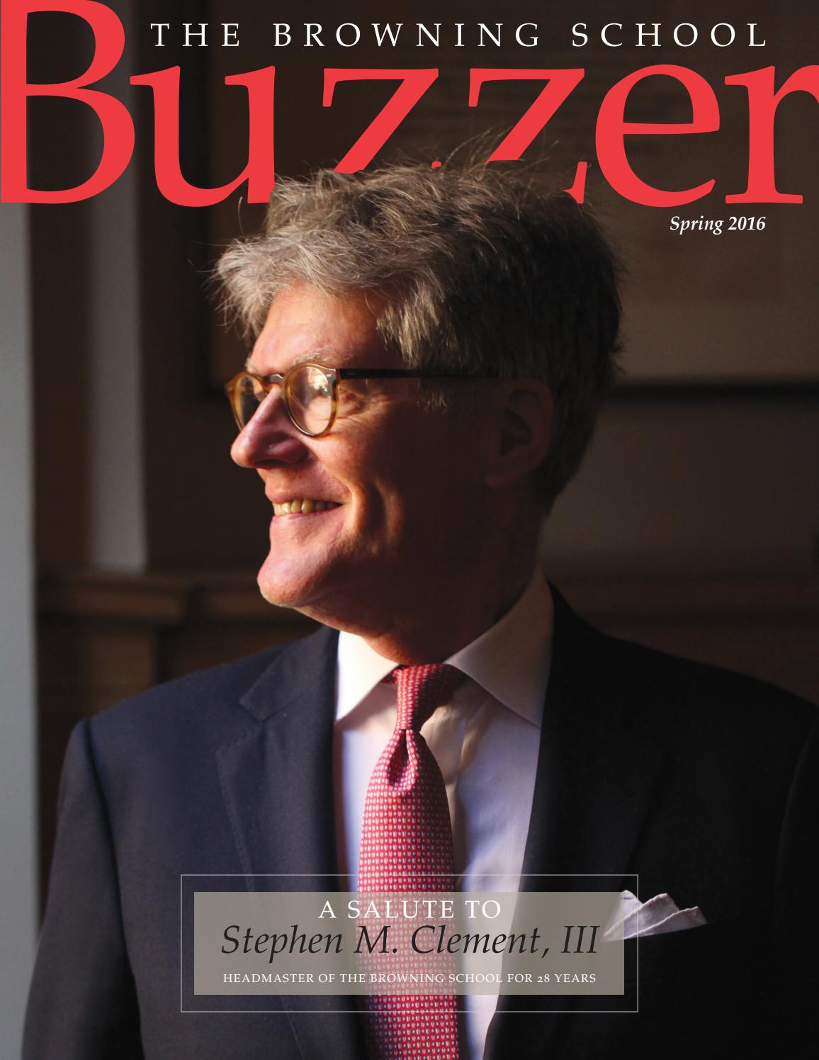 Buzzer Spring 2016 By The Browning School Issuu Easy Novel