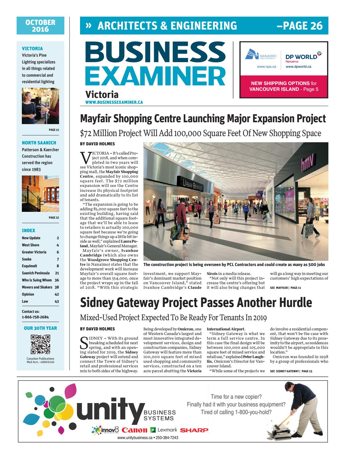 Business examiner victoria october 2016 by business examiner business examiner victoria october 2016 by business examiner media group issuu ccuart Image collections