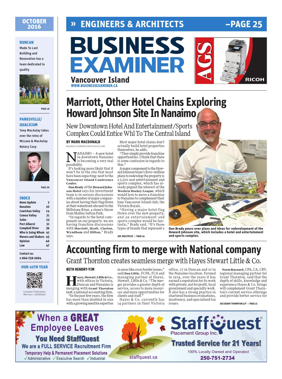b2465cd180f4 Business Examiner Vancouver Island - October 2016 by Business Examiner  Media Group - issuu