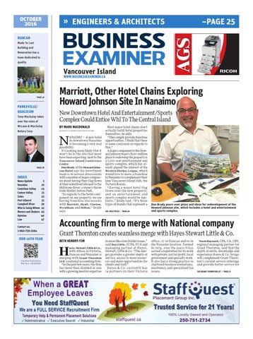 Business Examiner Vancouver Island - October 2016 by Business ...