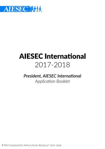 PAI Candidate's Booklet 17 18 by AIESEC International - issuu