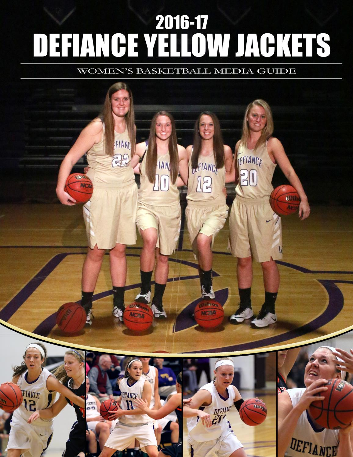 1c03fbb8a 2016 17wbbmediaguide by Defiance College - issuu