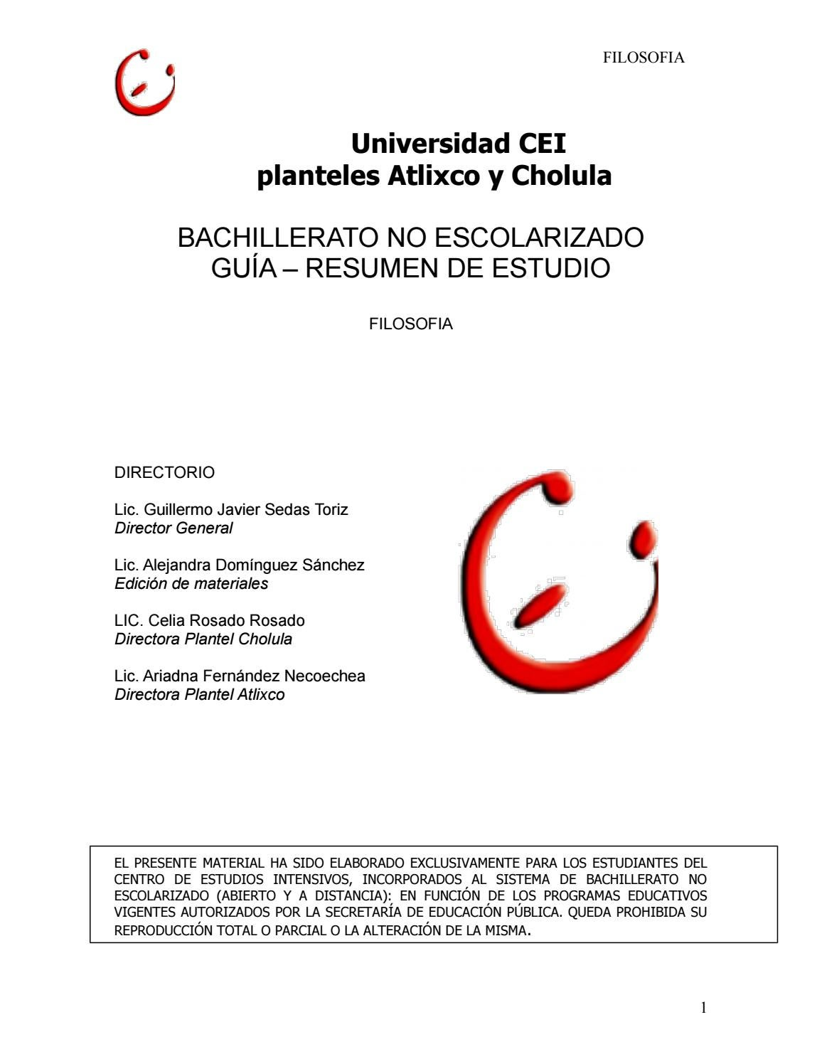 Filosofia by Leobardo Jaime Castillo Peña - issuu