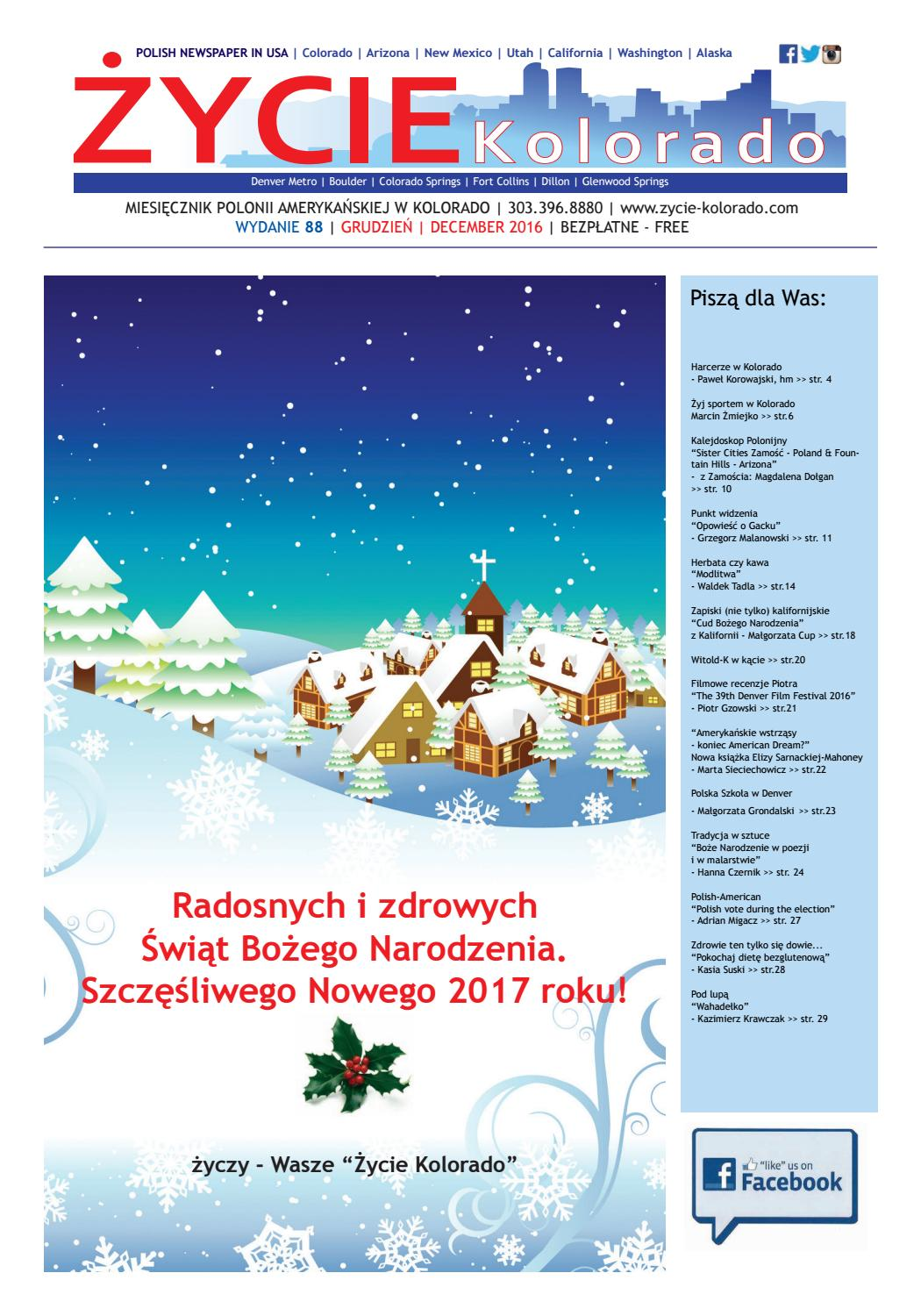 Zycie Kolorado December 2016 By Zycie Kolorado Issuu