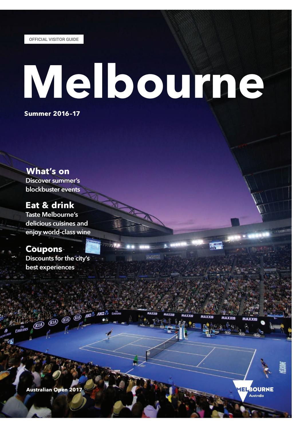 Melbourne Official Visitors Guide - Summer 2017 by Destination Melbourne -  issuu