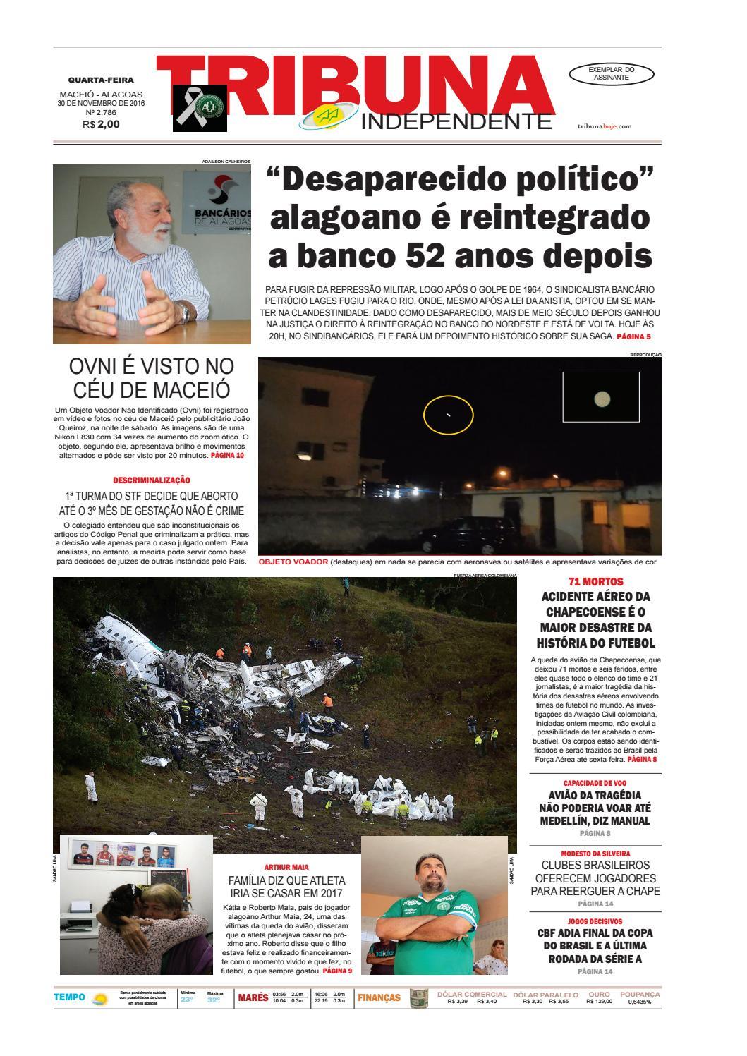 Edição número 2786 - 30 de novembro de 2016 by Tribuna Hoje - issuu 12eb09cd403a8