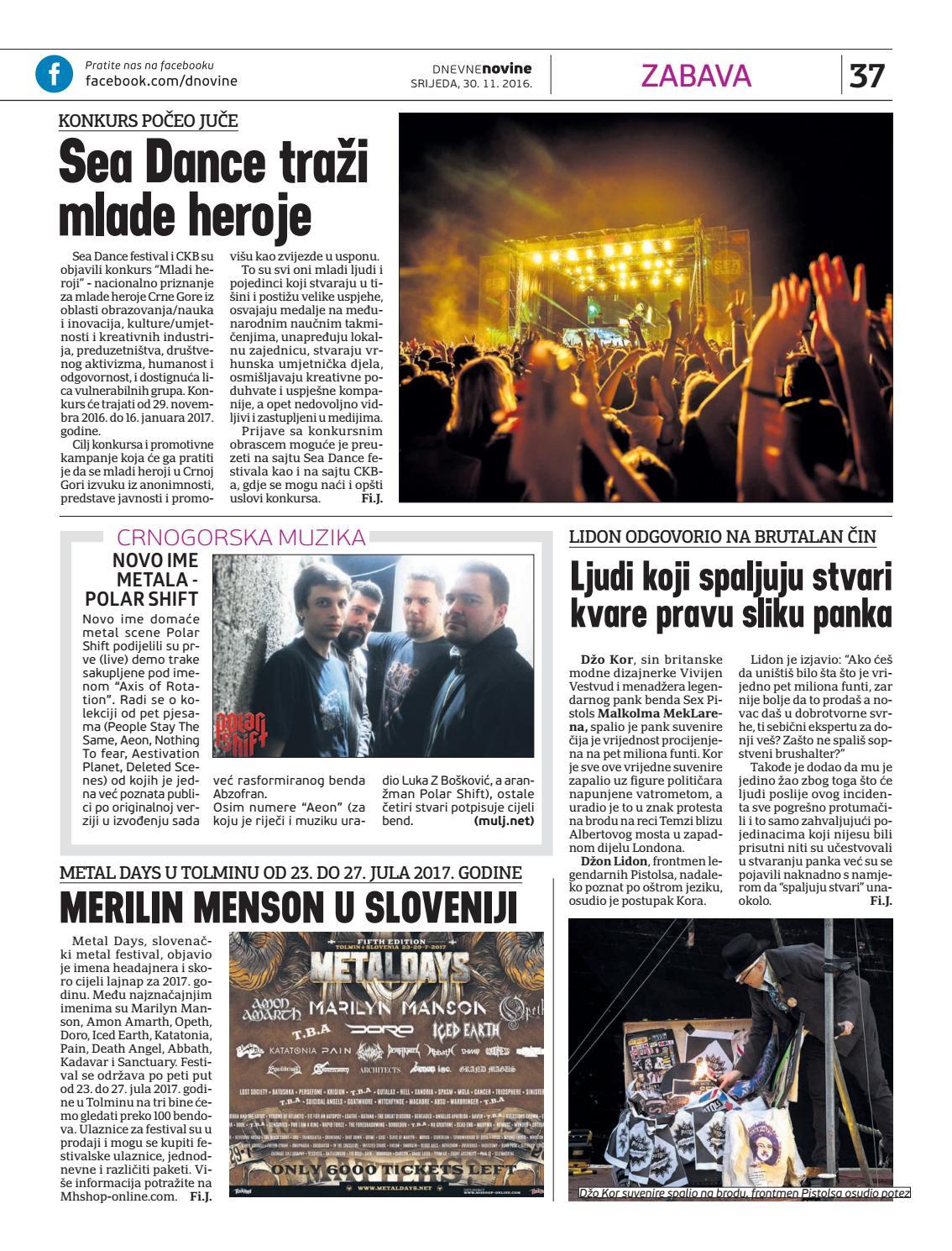 Dnevne novine 30  novembar 2016  by Dnevne Novine - issuu