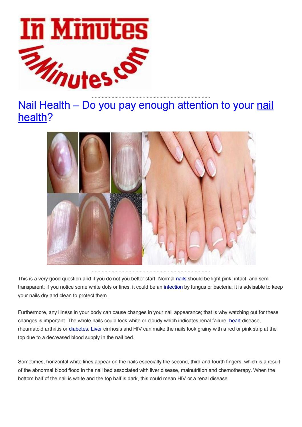 Nail health by health news, weight loss, healthy food, fitness - issuu