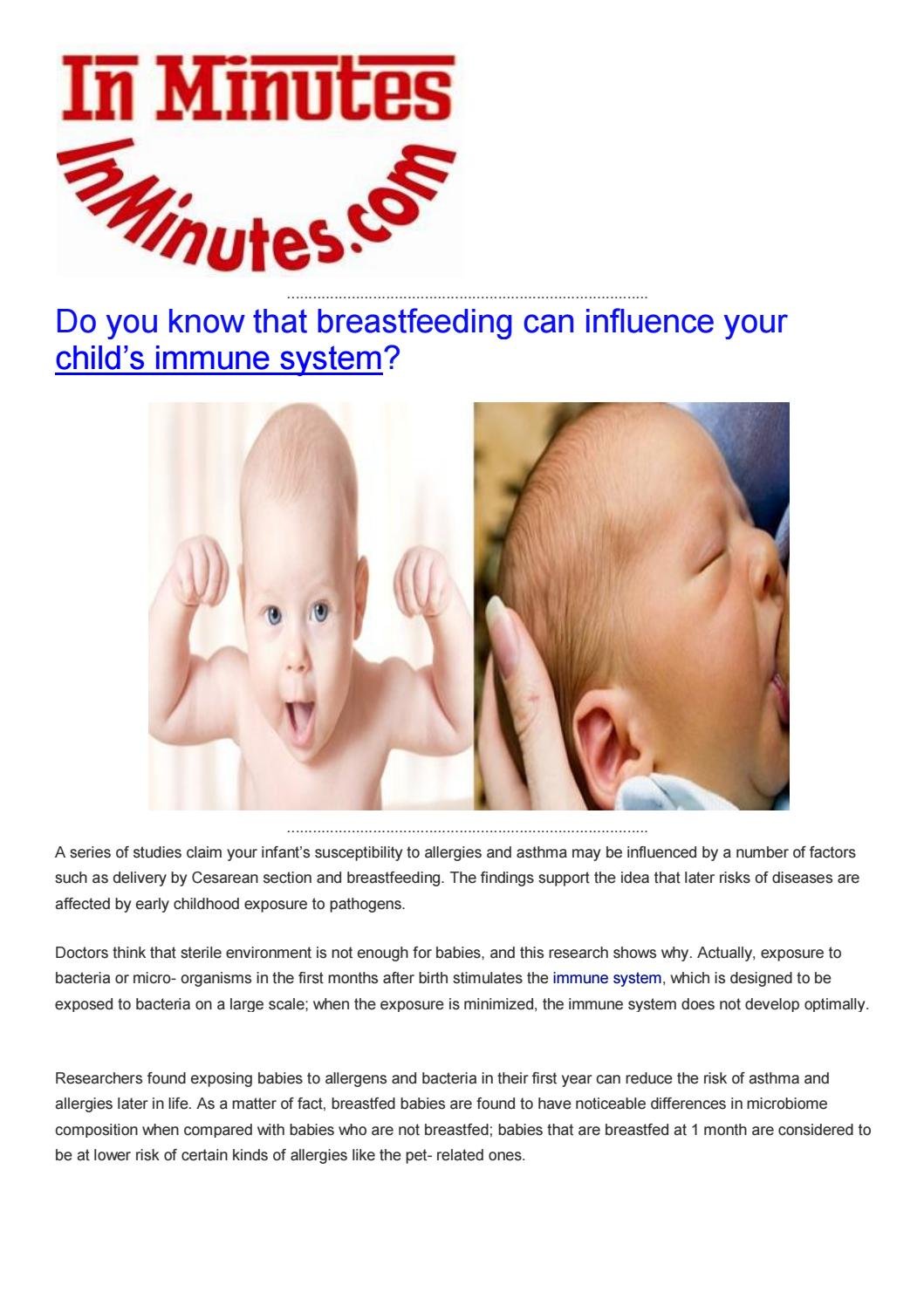 Birth Date May Influence Childs Risk >> Do You Know That Breastfeeding Can Influence Your Child By Health