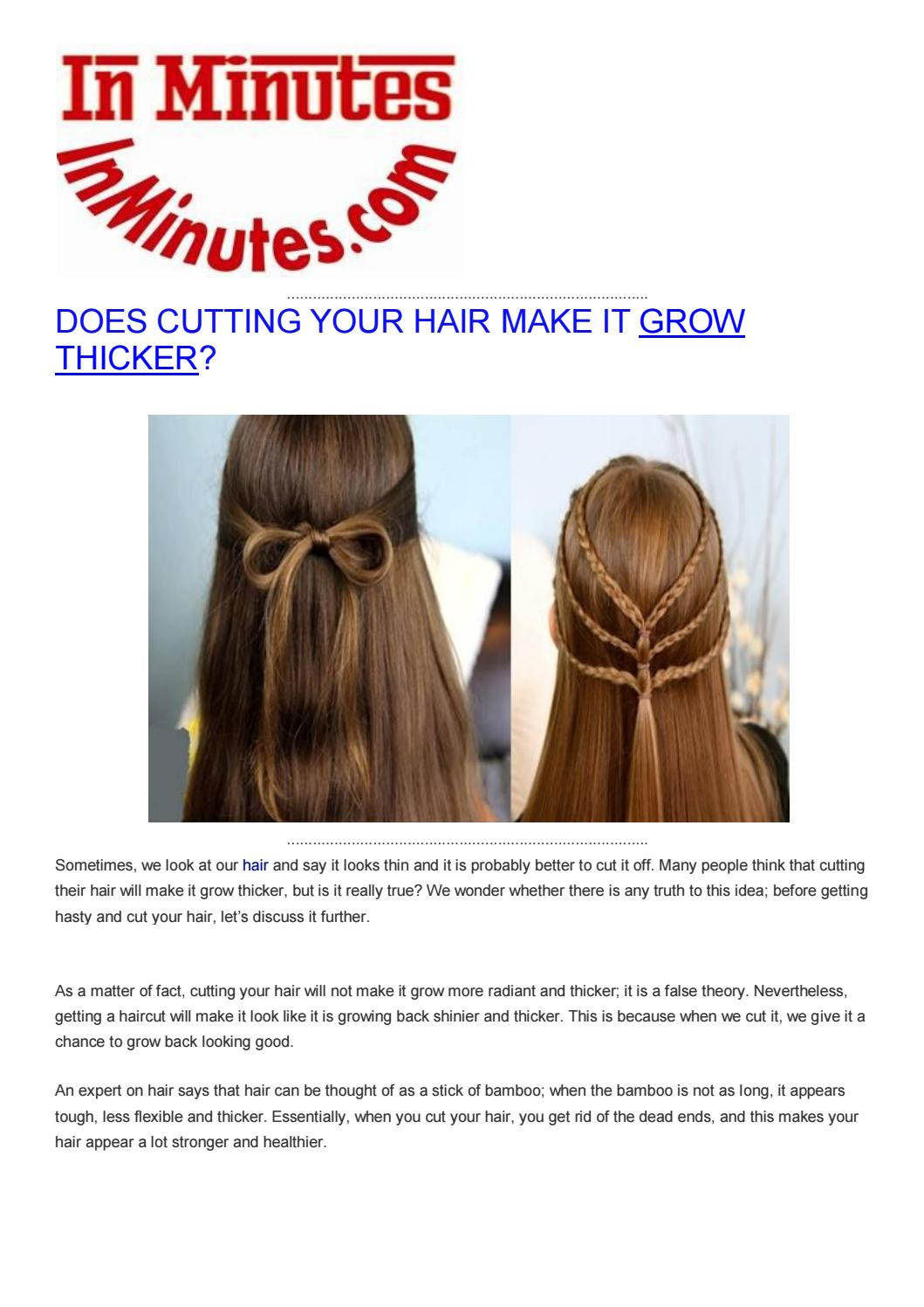 Does cutting your hair make it grow thicker by health news, weight