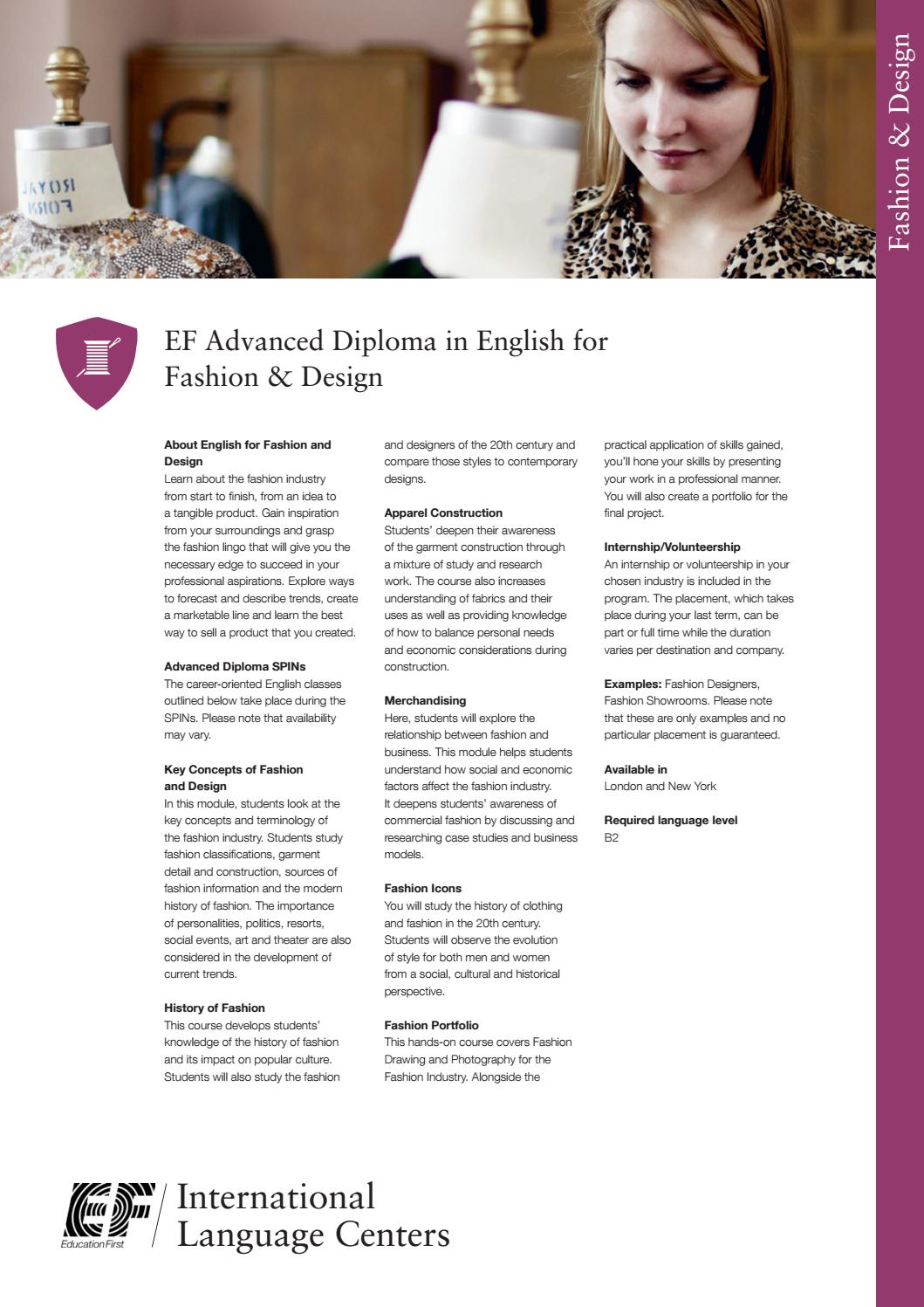 14ay Ad Fashion Design By Ef Education First Issuu