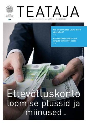 444ac2d4cf9 Teataja 11 2016 by Eesti Kaubandus-Tööstuskoda / Estonian Chamber of ...
