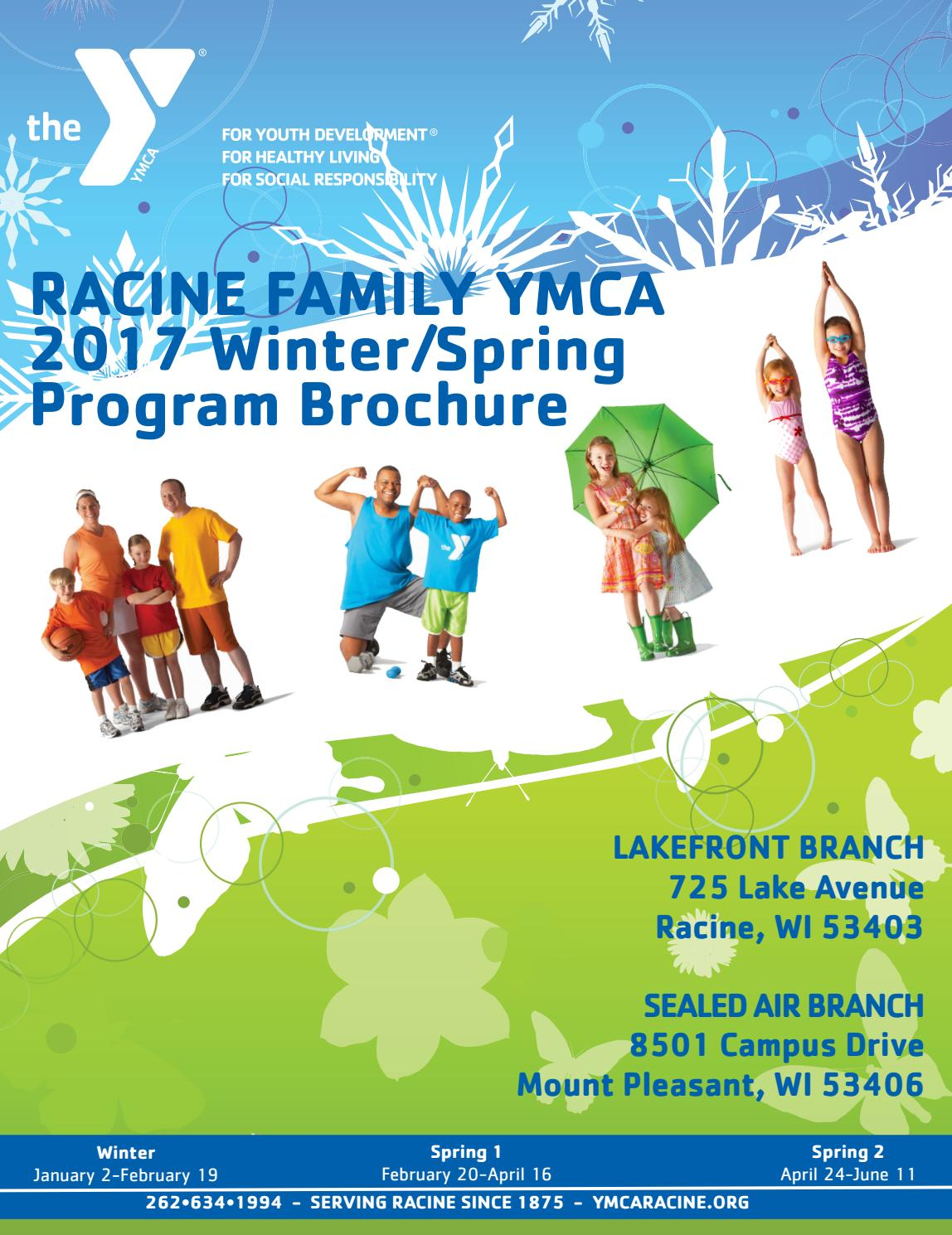 ymcaracine org winter spring brochure