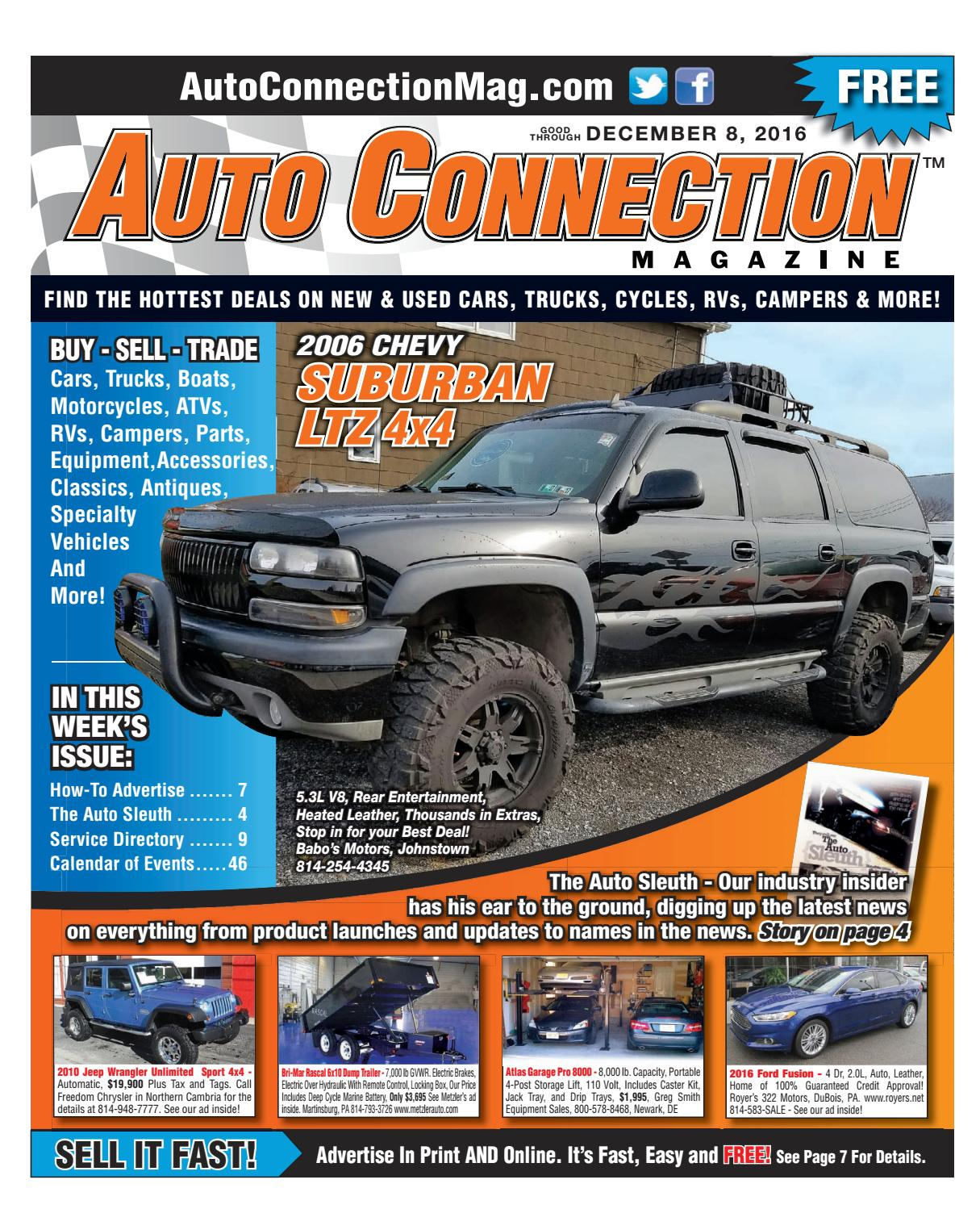 12-08-16 Auto Connection Magazine by Auto Connection Magazine - issuu