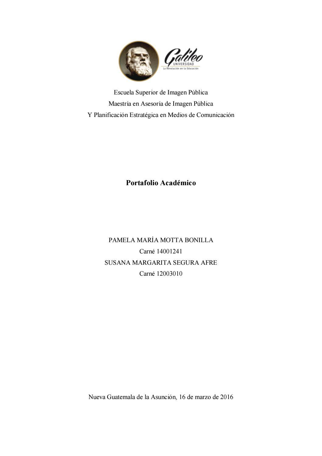 Proyectos de Imagen Pública de Maestría by Universidad Galileo - issuu
