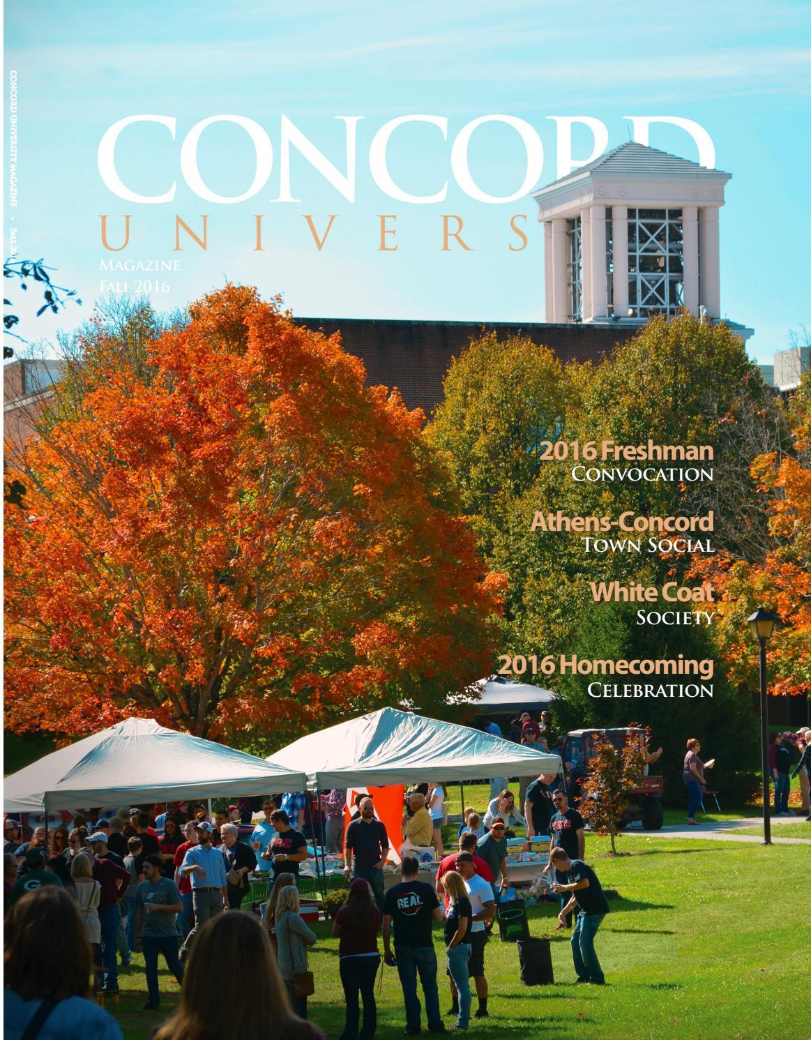 Concord University Fall 2016 Alumni Magazine by Concord University ...