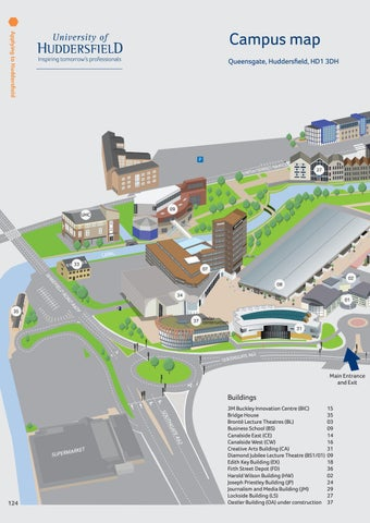 Misericordia University Campus Map.University Of Huddersfield 2017 18 International Prospectus By