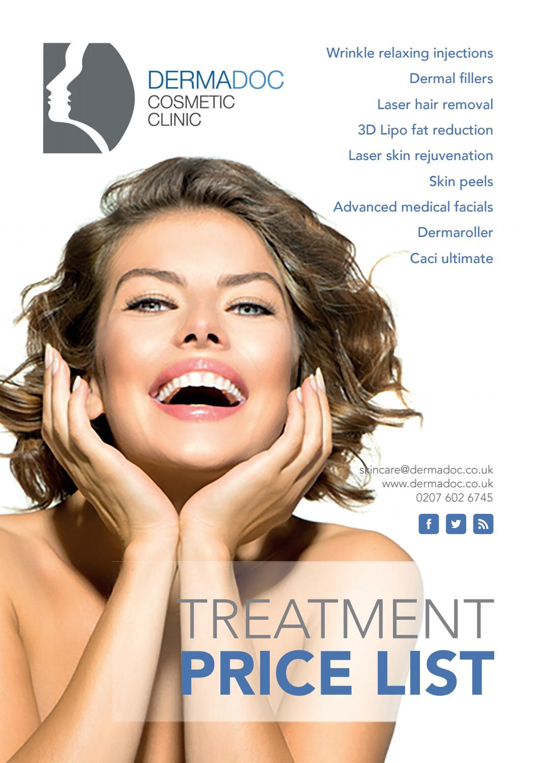 Treatment guide and Dermadoc Price List by dermadoc - issuu