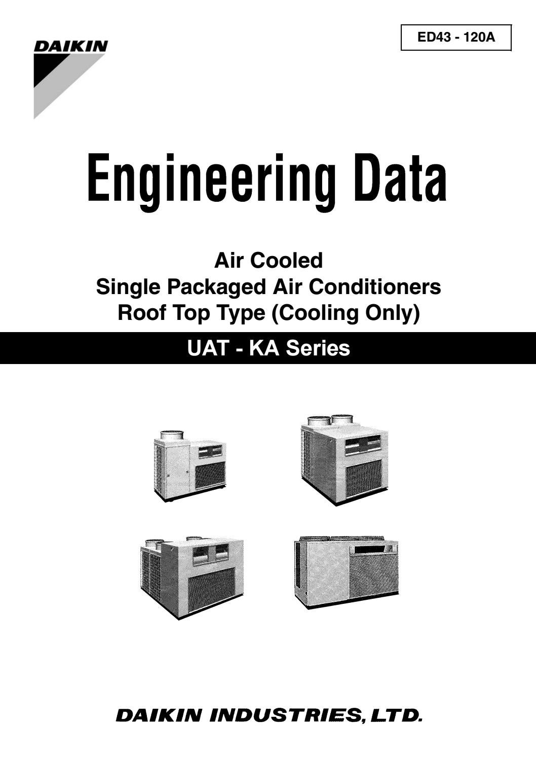 Daikin Engineering Data Air Cooled Single Packaged Conditioners 2005 International Wiring Diagram Conditioner Roof Top Type Cooling Only Ed4 By Education Vietmastec Issuu