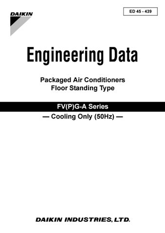 Daikin engineering data packaged air conditioners floor ... on
