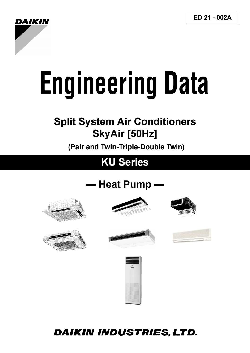 Daikin Engineering Data Split Skyair Ku Fhyc Kvefhy Bve By Inverter Air Conditioner Wiring Diagram Education Vietmastec Issuu