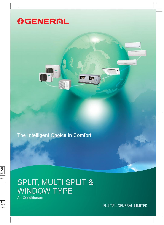 General split, multi split & window type air conditioners 3ag001 ...