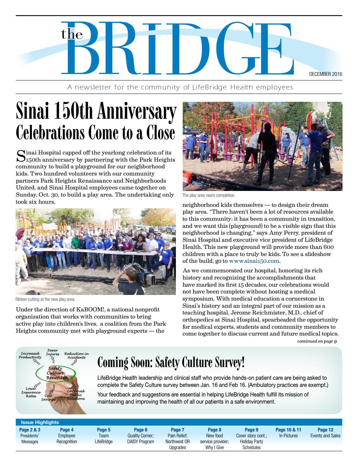 Bridge December 2016 by LifeBridge Health - issuu