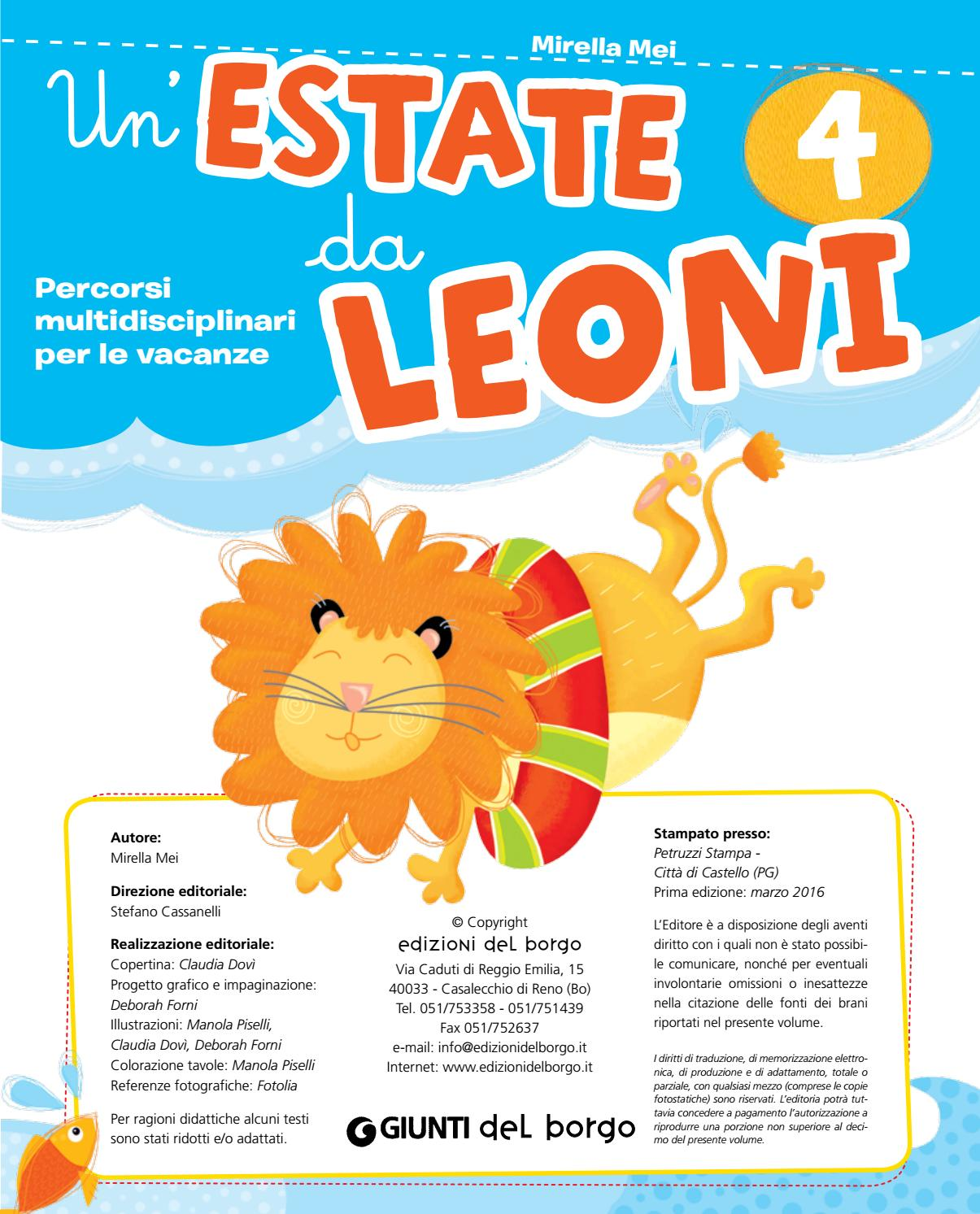 Un Estate Da Leoni 4 Soluzioni By Quapippoq Issuu