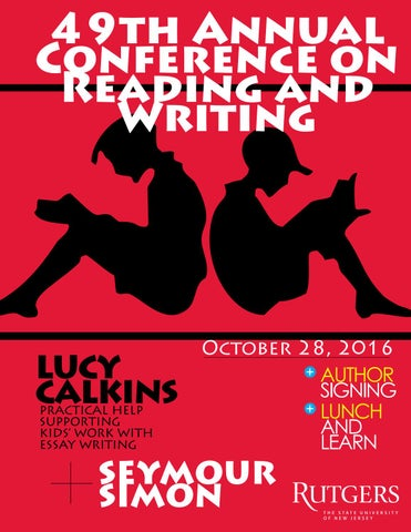 Rutgers conference on reading and writing 2016 by irving roman issuu 49th annual conference on reading and writing fandeluxe Image collections