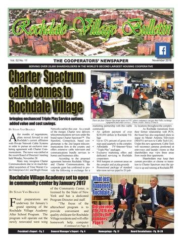 Rochdale Village Bulletin November 2016 By Rochdale