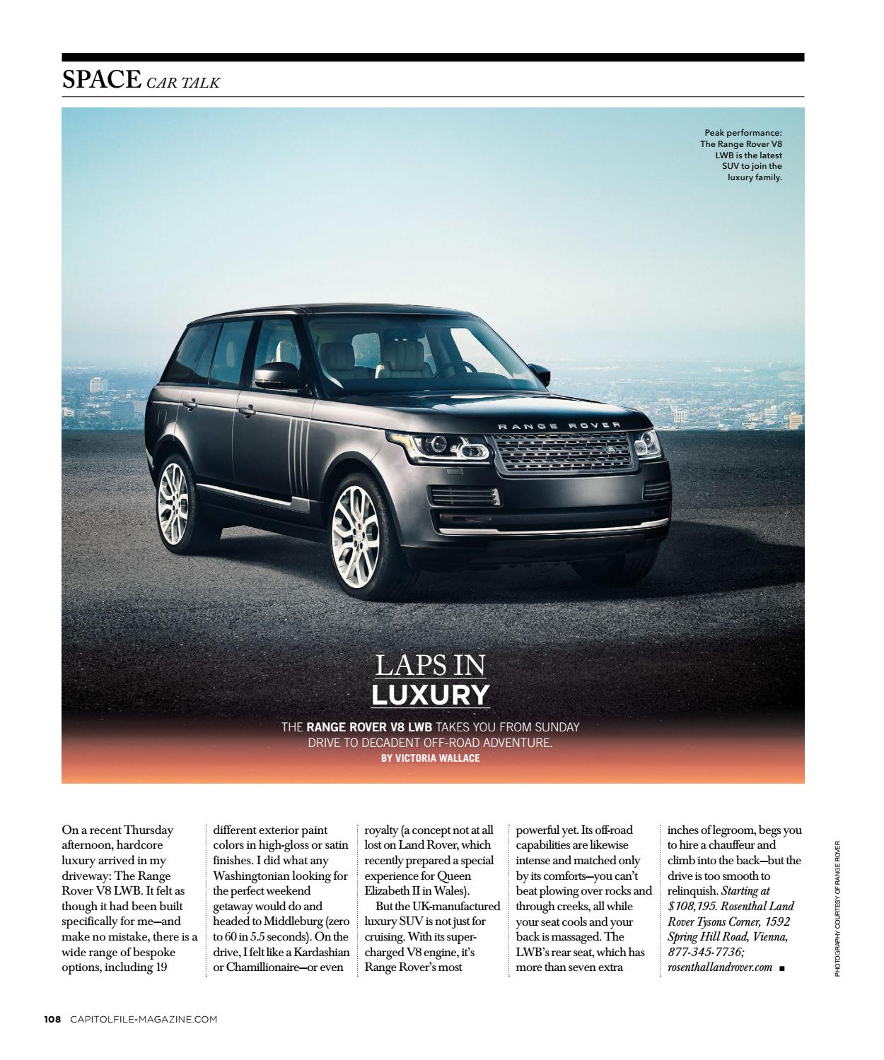 Rosenthal Land Rover >> Capitol File 2016 Issue 6 Winter Welcome Mr