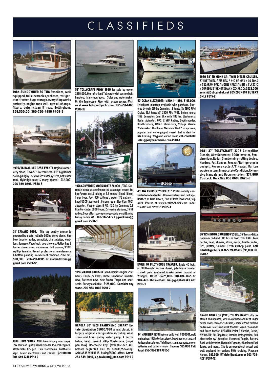 Northwest Yachting December 2016 By Issuu Basic Boat Wiring Diagram Engine 454
