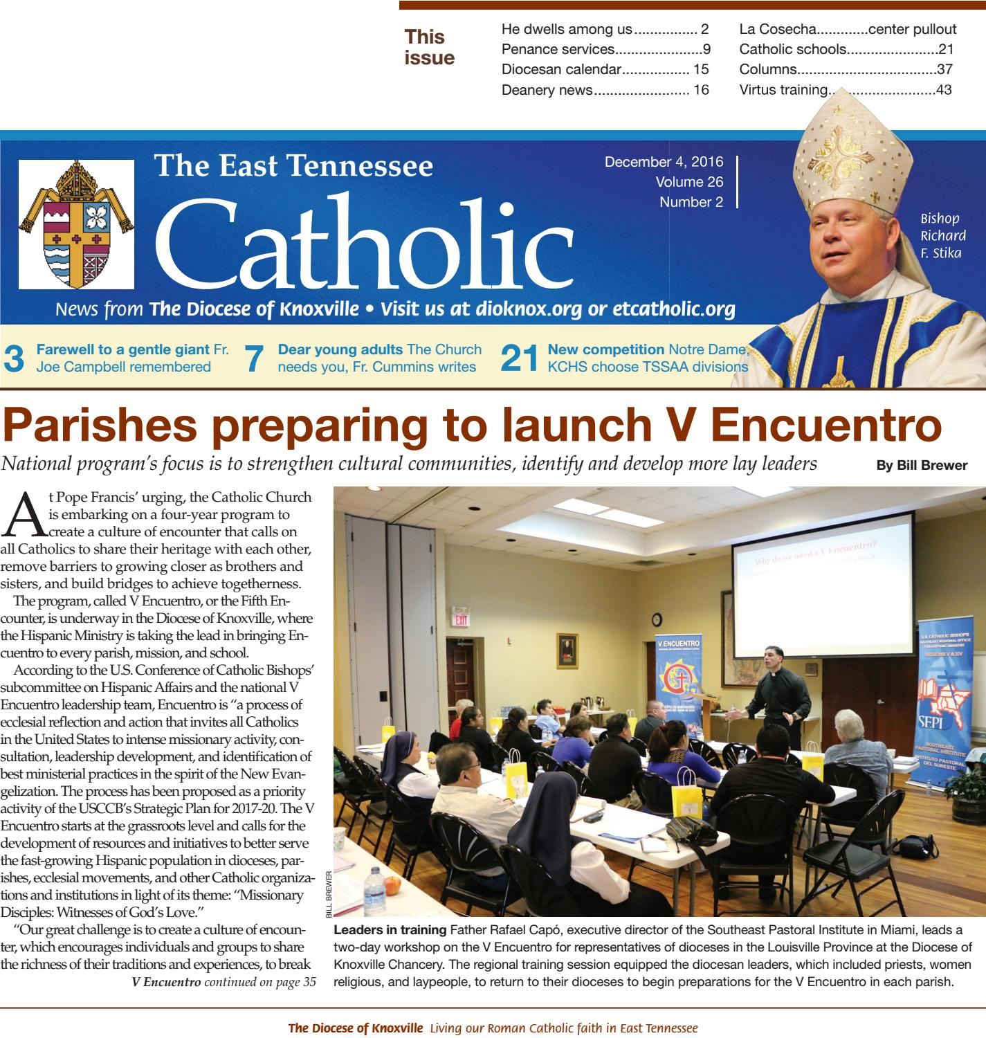 4, 2016, ET Catholic by Diocese of Knoxville - issuu