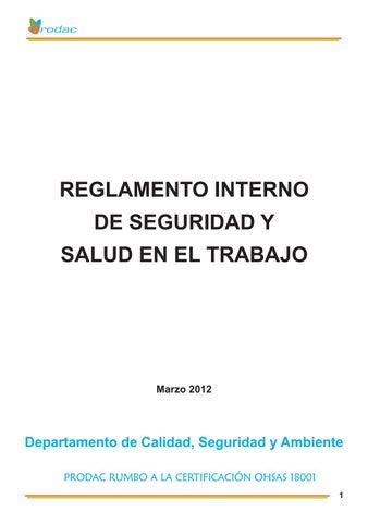 Reglamento interno de sst by Jennifer Zarate - issuu