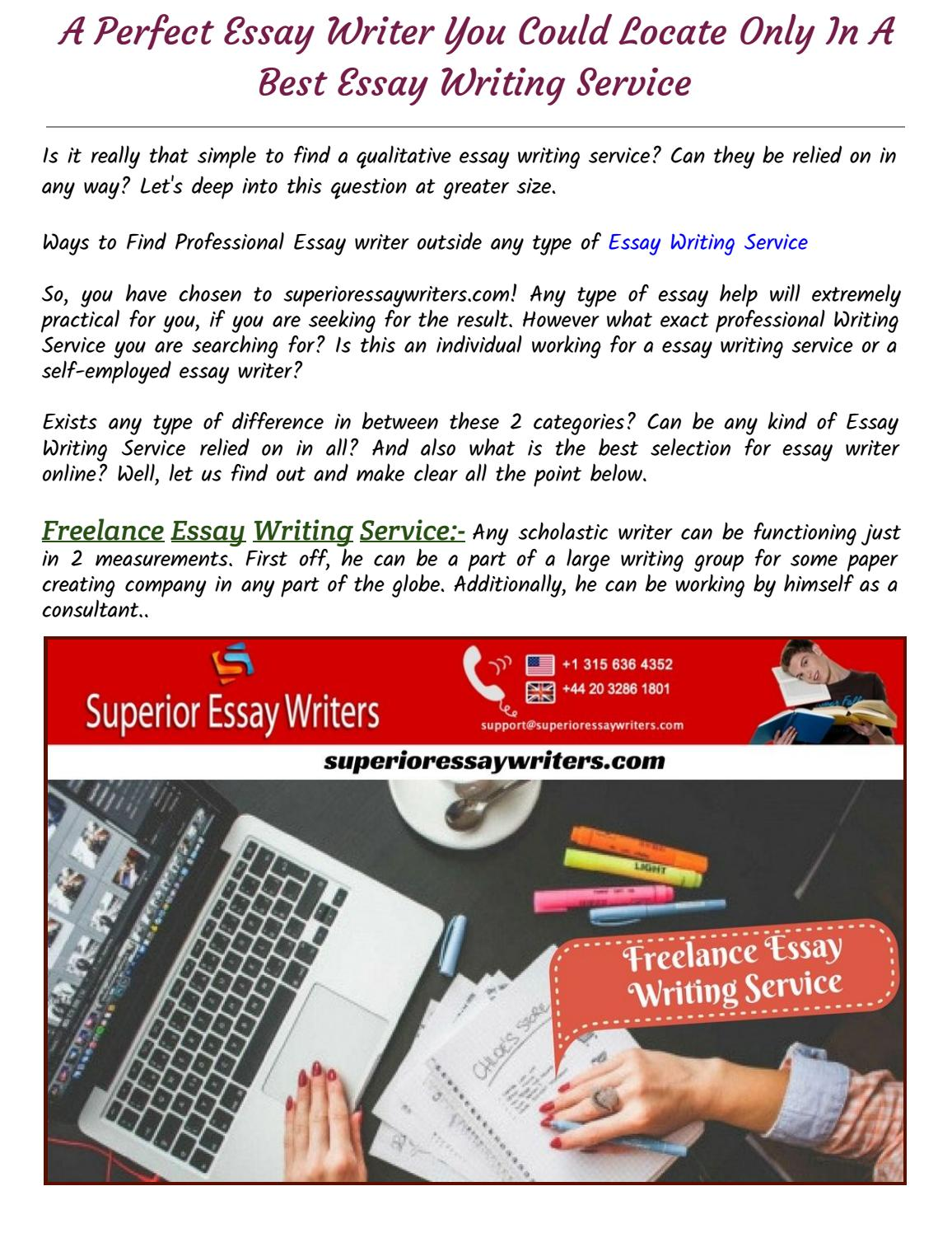 Professional way to write an essay