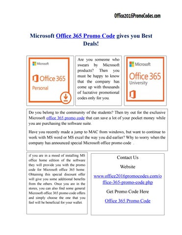 office 365 promo code by roberto199020 issuu