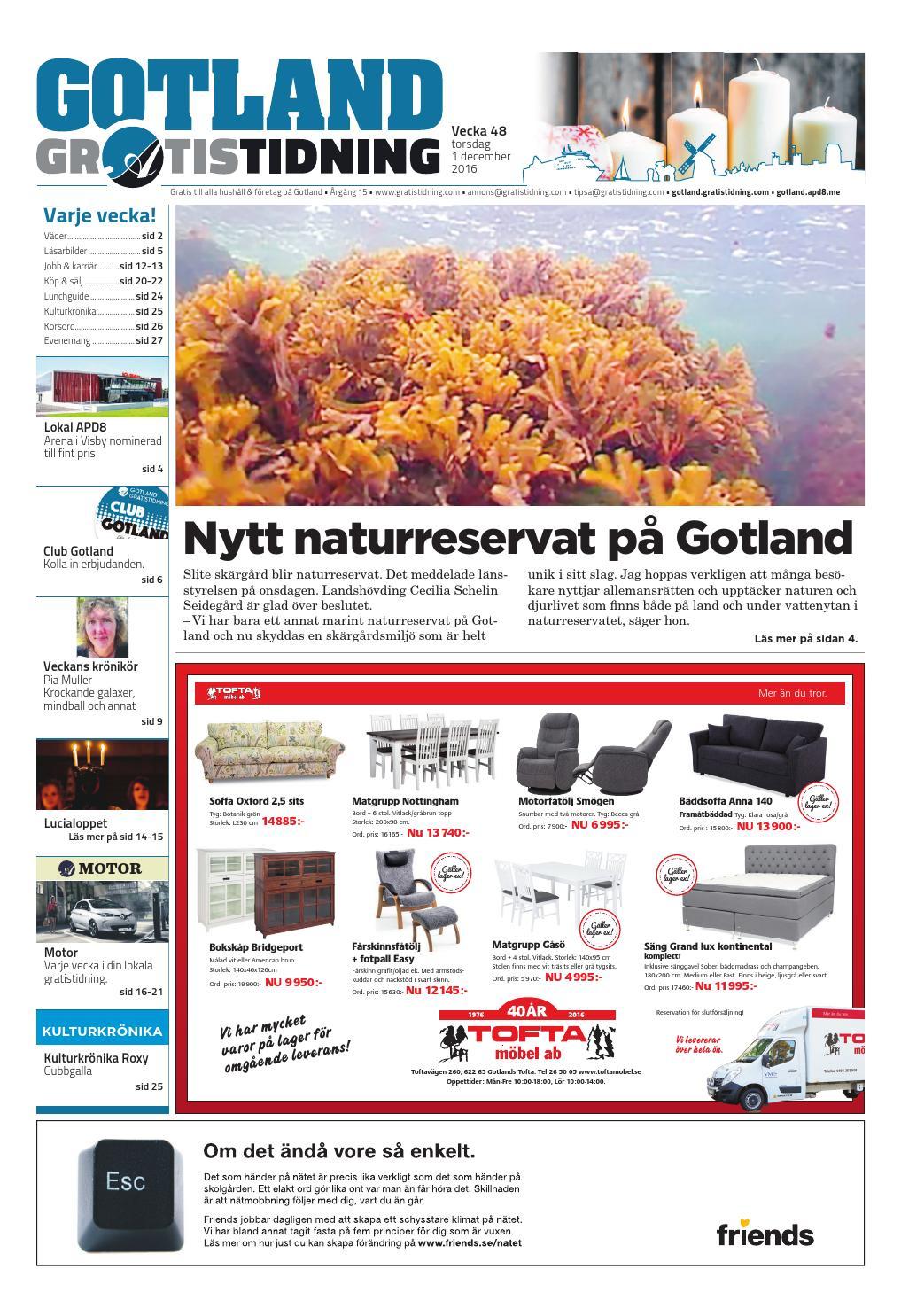 158f525d52c1 Gotland Gratistidning by Svenska Civildatalogerna AB - issuu