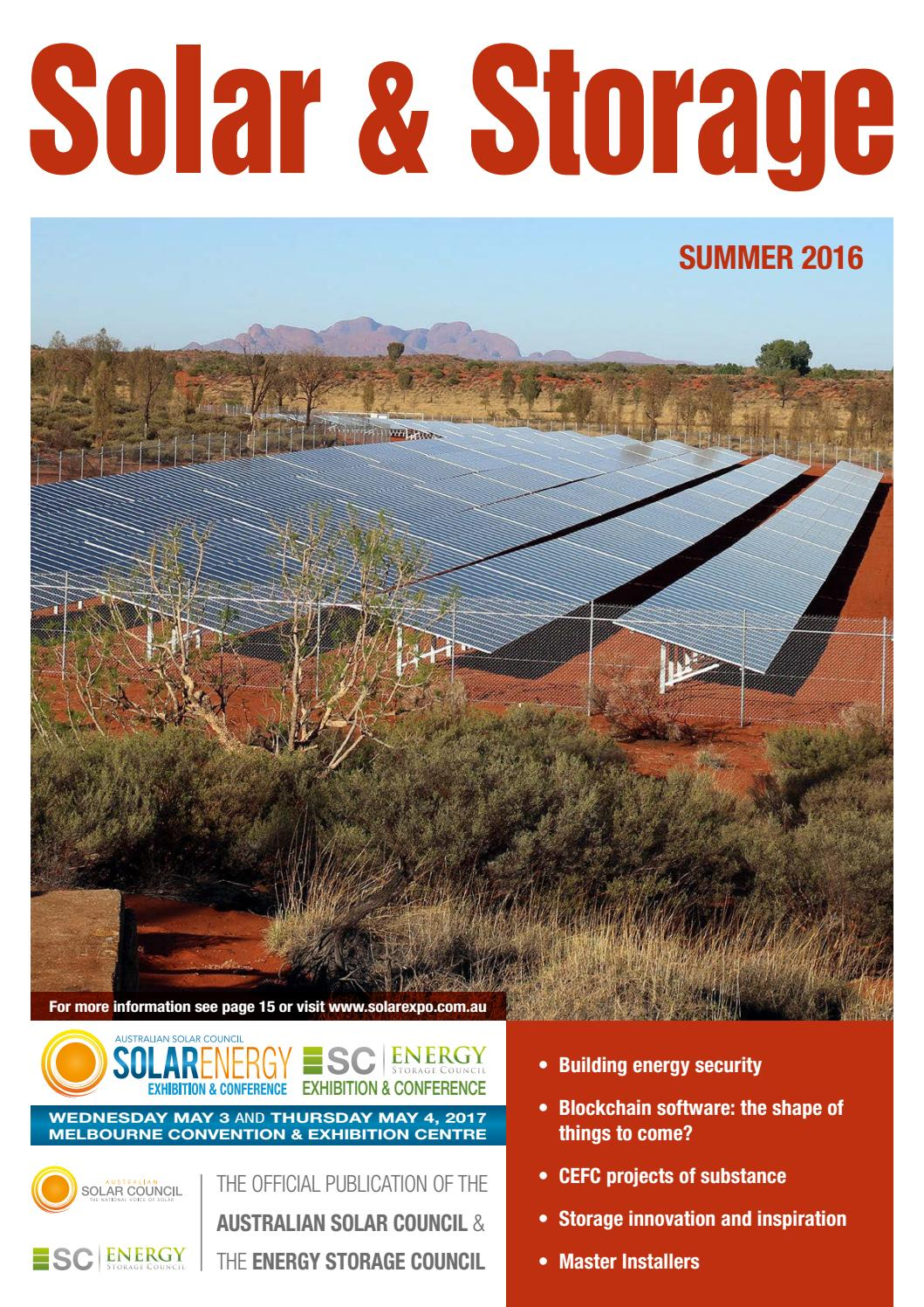 Solar Storage Magazine Summer 2016 By Smart Energy Council Issuu 28 2010 A Compact And Portable 12v Power Inverter Circuit That