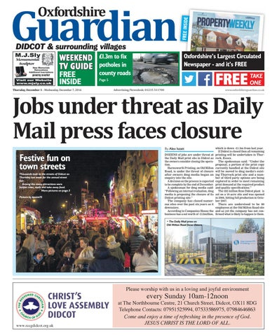 01 December 2016 Guardian Didcot By Taylor Newspapers