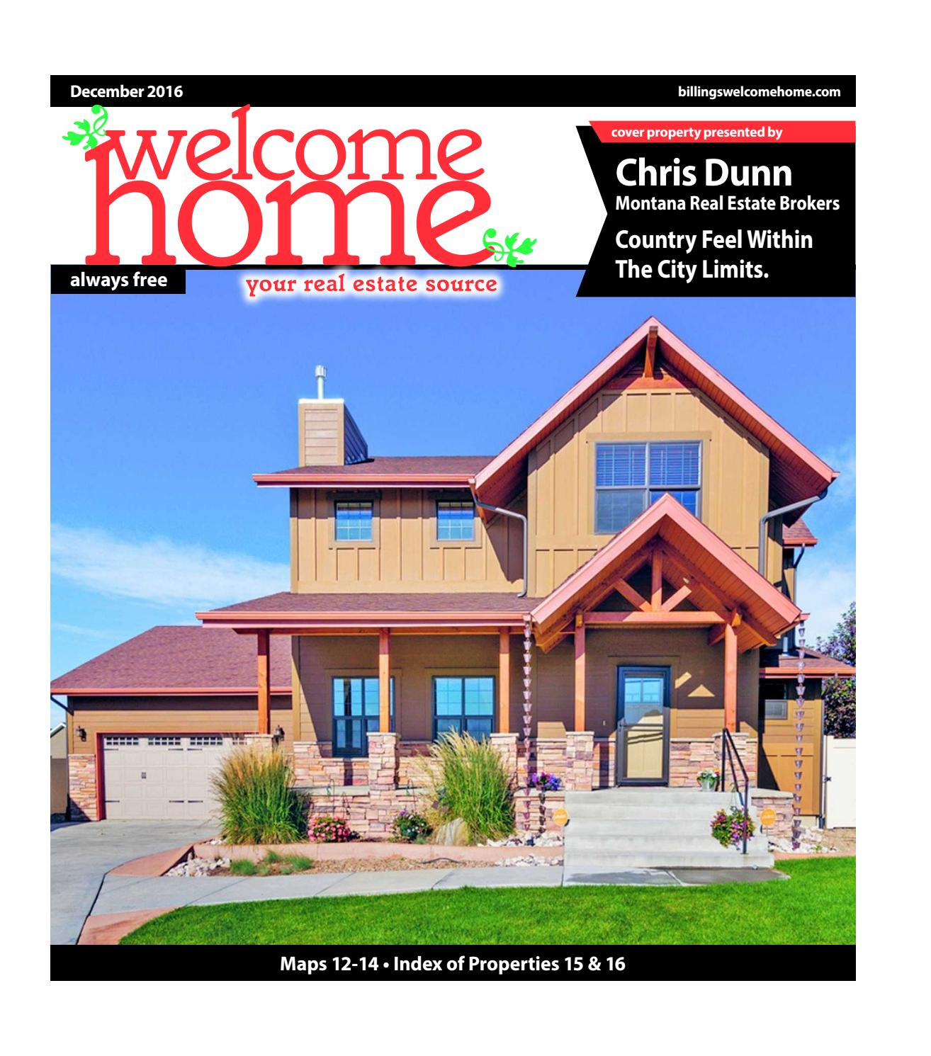 Welcome Home By Billings Gazette