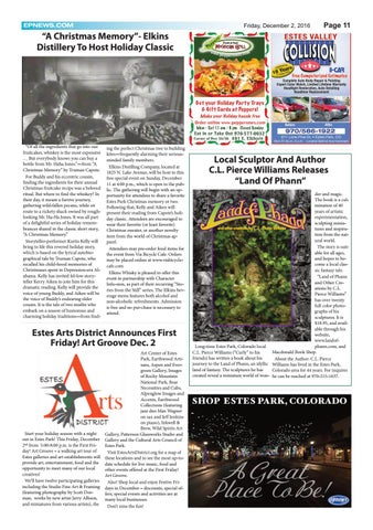 Estes Park News December 2 2016 By Estes Park News Inc Issuu