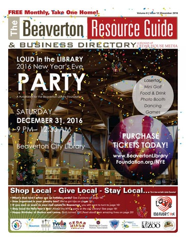 Brg december 2016 by beaverton resource guide issuu free fr ree e monthly montthly take tak ke one on ne n e home home hom e fandeluxe Images
